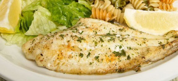 Broiled fish fillets italian mediterranean diet for Sole fish nutrition
