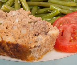 Slice of Homemade Meatloaf