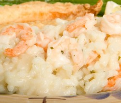 Homemade Risotto with Shrimp