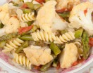 Pasta with Asparagus and Cauliflower