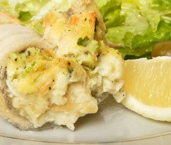 Baked Stuffed White Fish