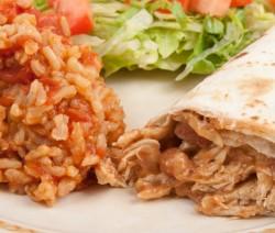 Homemade Burro with Spanish Rice