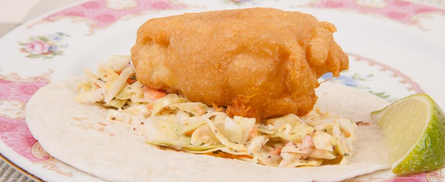 Homemade fried fish taco italian mediterranean for Fried fish taco recipe