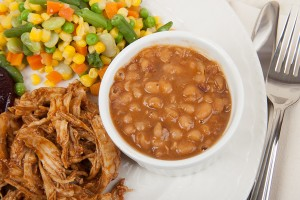 Baked Beans and Mixed Vegetables