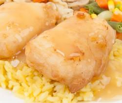 Batter Fried Fish with Lemon Sauce