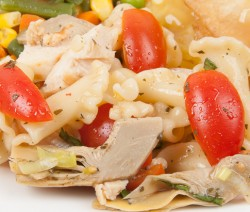 Artichoke and Grilled Chicken Pasta Salad