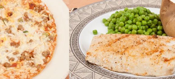 Grilled Fish versus Frozen Pizza