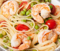Pasta with Shrimp and Peas