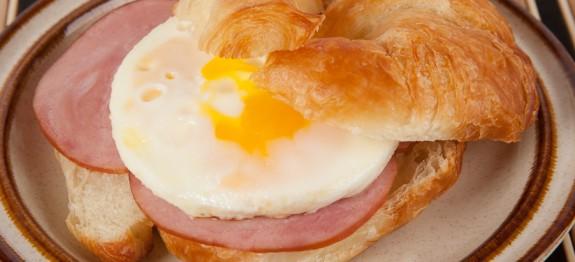 90 Cent Croissant Breakfast Sandwich