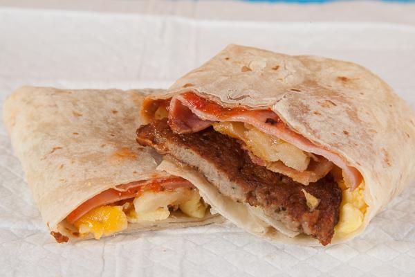 Fast Food Breakfast Burrito