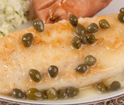 Fried Fish with Lemon Caper Sauce
