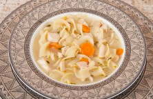 Lemon Chicken Soup with Noodles