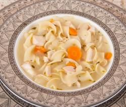 Lemon Chicken Soup with Noodles