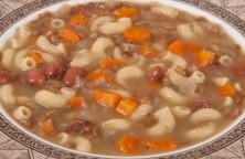 Lentil, Bean, and Pasta Soup