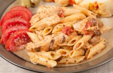 Pasta Margherita with Grilled Chicken