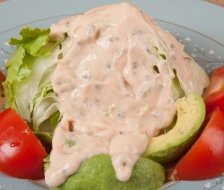 Salad with homemade 1000 Island Dressing