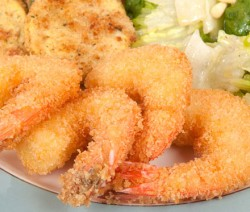 Serving of Panko Fried Shrimp