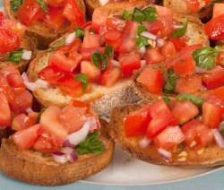 Homemade Tomato Bruschetta