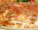 Homemade Lasagna with Meat Sauce