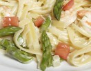 Fettuccine Alfredo with Shrimp and Asparagus