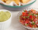 Homemade Guacamole and Salsa