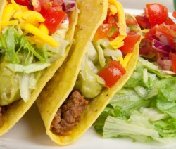 Homemade Beef Taco with Creamy Guacamole