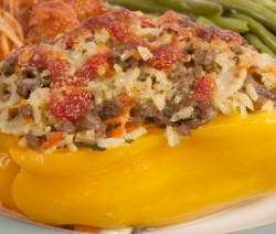 Stuffed Yellow Bell Pepper