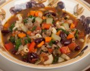 Minestrone Soup with Beef and Pasta