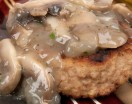 Homemade Turkey Burger with Mushroom Sauce