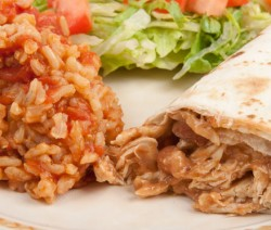Homemade Burro with Spanish Rice
