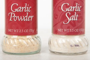 Garlic Powder and Garlic Salt