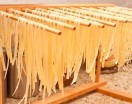 Homemade Pasta Drying on Rack