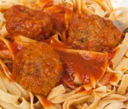 Homemade Pasta with Meatballs