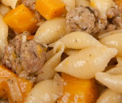 Pasta with Sausage and Winter Squash