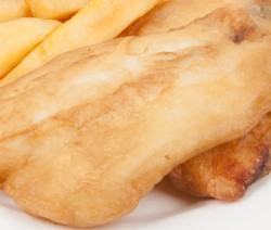 Batter Fried Fish with Steak Fries
