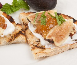 Fig and Yogurt Bruschetta