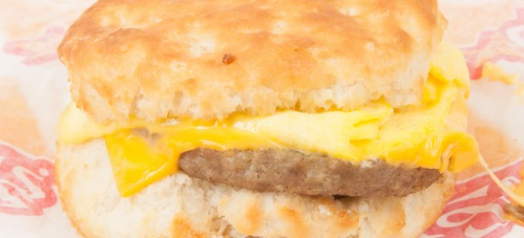 Fast Food Sausage Egg Biscuit
