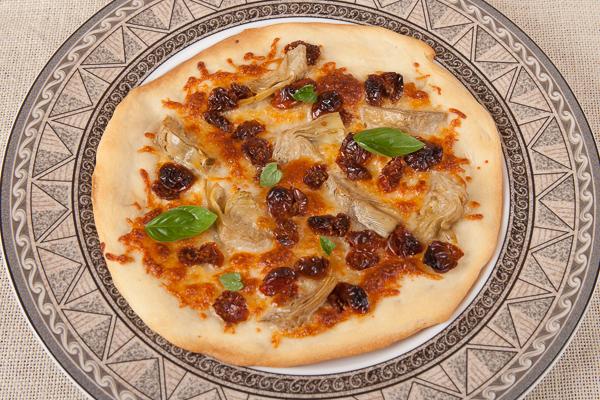 Artichoke-Oven Dried Tomato-Personal Pizza