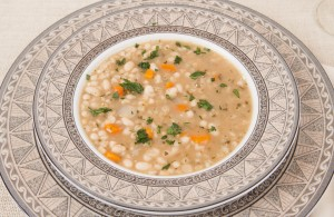 White Bean & Barley Soup With Cheese