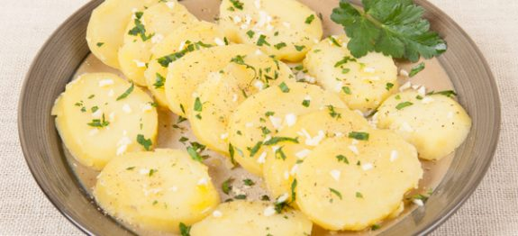 Boiled Potato Salad Or Side Vegetable