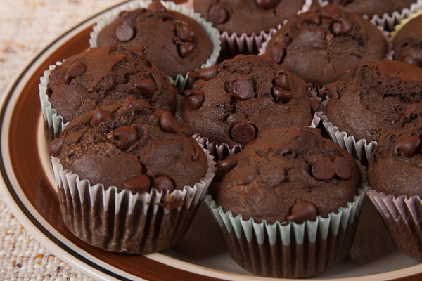 Homemade Double Chocolate Muffin