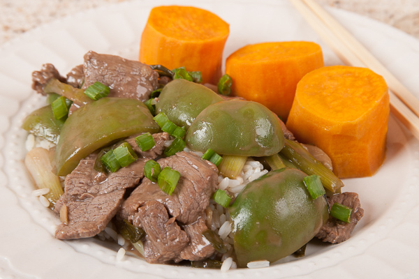 Ginger Beef with Yams