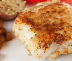 Herb Crusted Roasted Cod