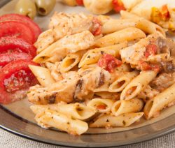 Pasta Margherita with Grilled Chicken