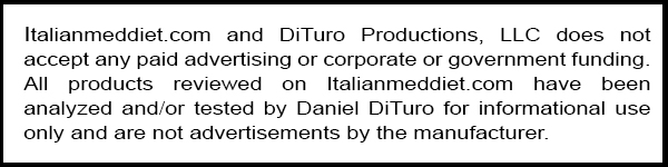 DiTuro Productions Product Review Disclaimer
