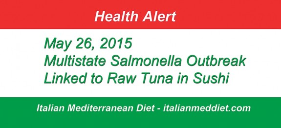Italian Med Diet Raw Tuna Health Alert